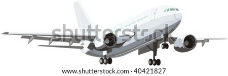 vector scene of airplane