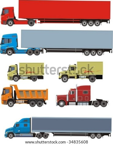 vector scene of the miscellaneous type cargo car