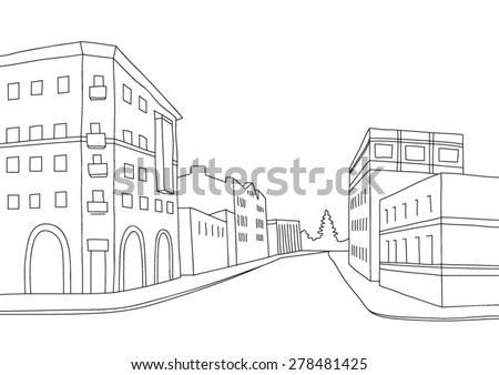 vector scetch of perspective