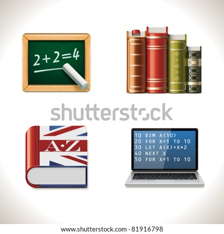Vector school and education icon set. Part 2