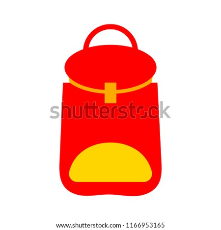 vector school Backpack illustration isolated, education icon