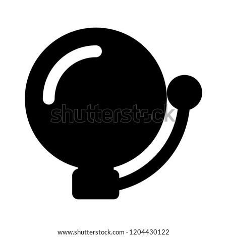 Vector school bell icon -alarm bell symbol - fire bell illustration