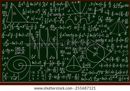 vector school blackboard with