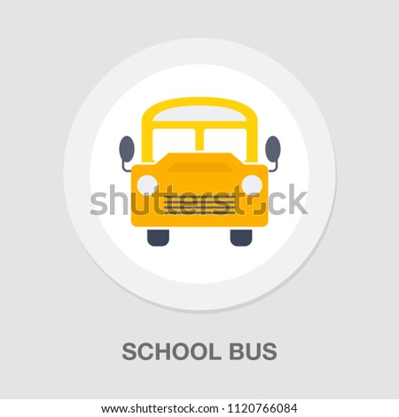 vector school bus illustration isolated, school vehicle symbol