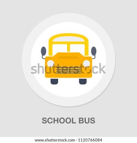 vector school bus illustration isolated, school vehicle symbol