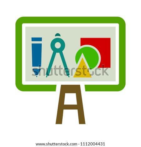 vector school chalk board - blackboard or chalkboard illustration, Education icon
