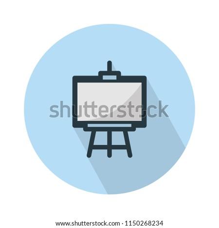 vector school chalk board - blackboard or chalkboard illustration, Education icon