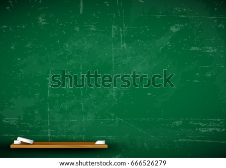 vector school green blackboard