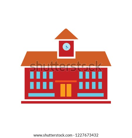 vector school institute building. university icon - education concept- education llustration - vector school; building isolated