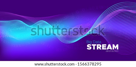 Vector Science Flyer. Matrix Big Data. Violet One, Zero Numbers. Digital Binary Waves. Science Wallpaper. Matrix Background. Technology Design. Abstract Binary Flow. Glow Science Visualization.
