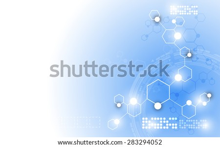 vector science innovation abstract background