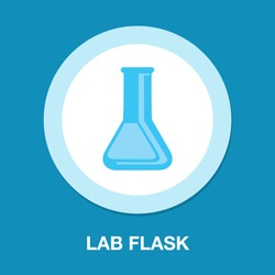 vector science Lab flask - chemical laboratory, chemistry research - medical test icons