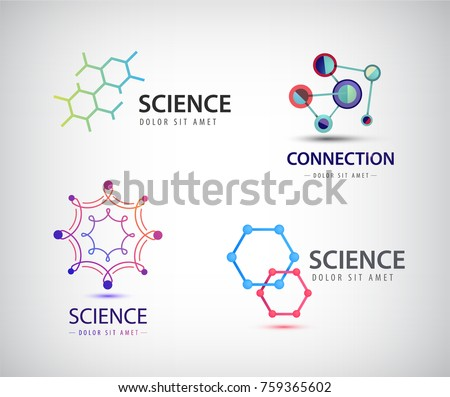 vector science logos  chemistry
