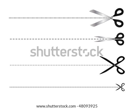 vector scissors symbol set - stock vector