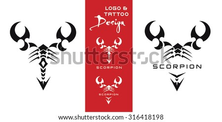 vector scorpion tattoo logo