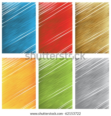 Vector scratch textures - stock vector