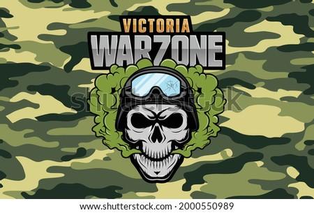 Vector screensaver for warzone victory Zdjęcia stock ©