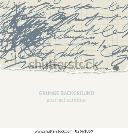 vector scribble background - stock vector
