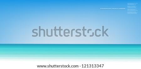 Vector sea background.