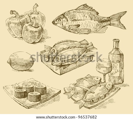 vector seafood
