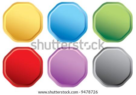 Vector seal button icons