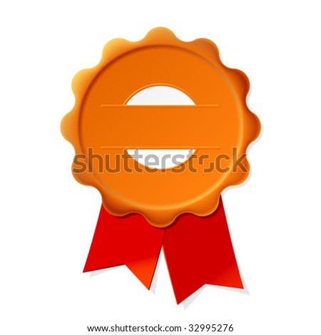 Vector seal. Insert your text. - stock vector