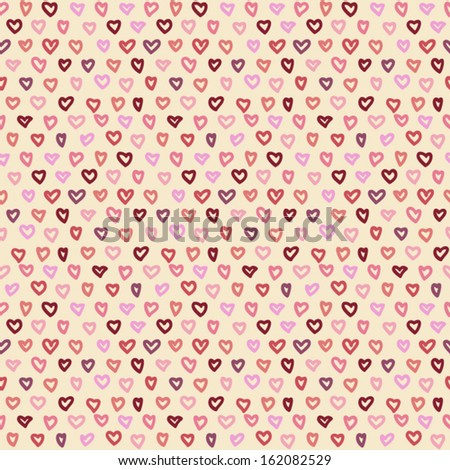Vector seamless abstract hand-drawn pattern. EPS 10 Vector illustration
