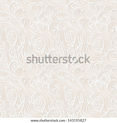 Vector seamless abstract hand-drawn pattern with wave