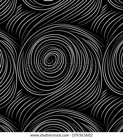 Vector seamless abstract hand-drawn pattern with waves