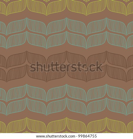 Vector seamless abstract pattern. Template for design. - stock vector