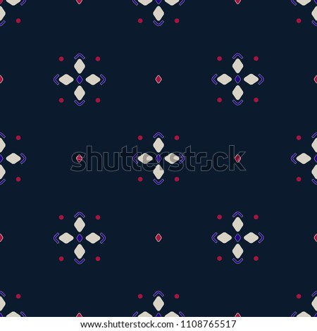 vector seamless abstract simple geometric pattern. foulard. stars and dots Photo stock ©