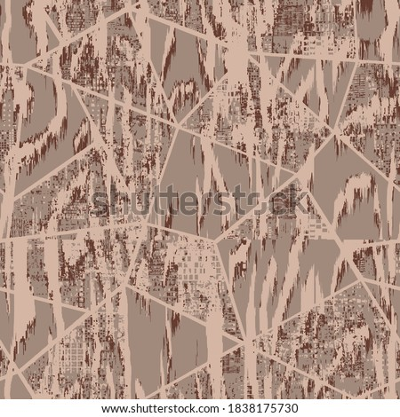 Vector seamless animal skin textures ikat  effect included, collage checks background modern print pattern design for carpet, rug, scarf, clothing, wear, shawl, fabric, wallpaper, wrapping, covers Photo stock ©