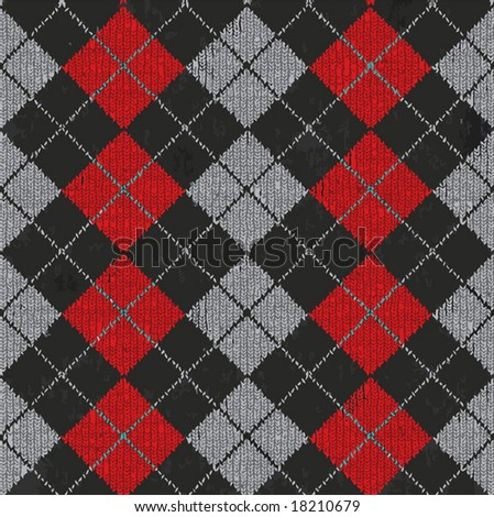 Vector Seamless Argyle Sweater Background, Realistic and Detailed. See Jpeg Also In My Portfolio