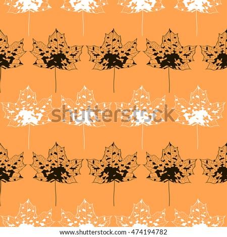 vector seamless autumn pattern