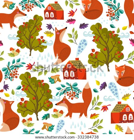 vector seamless autumn pattern