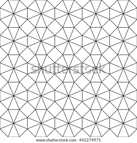 Vector seamless background in black and white. Geometric ornament pattern with repeating elements.