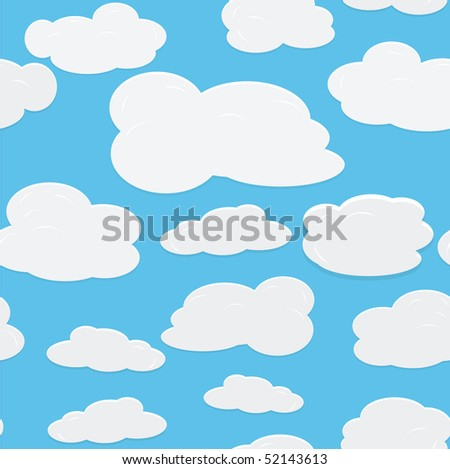 vector seamless background with sky.