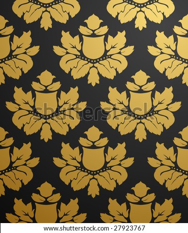 Vectors - Black and Gold Patterns   Tinydl.Com Full And Free Download