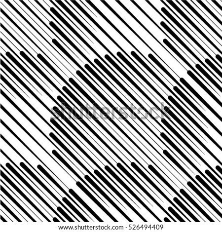 Vector seamless black and white diagonal lines pattern abstract background.