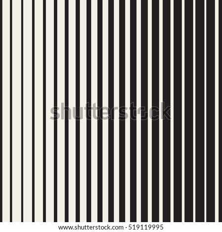 Shutterstock Vector Seamless Black and White Halftone Vertical Stripes Pattern