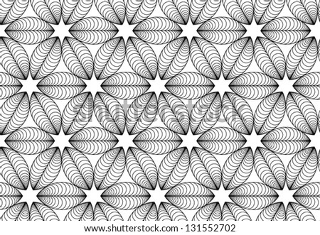 Vector seamless black and white pattern with coffee grain