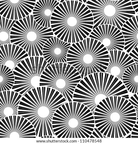 Vector seamless black white background