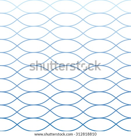 Vector seamless blue abstract wave pattern