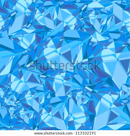 Vector seamless - blue jewelry pattern