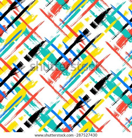 vector seamless bold plaid