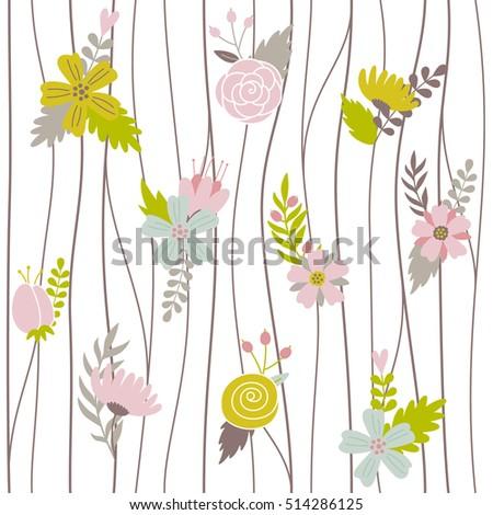 vector seamless botanical