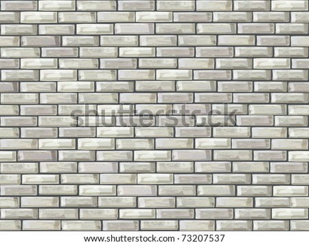 Vector seamless brick wall made of white bricks.