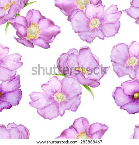 vector seamless brier roses
