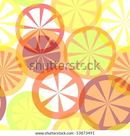 Vector seamless citrus background
