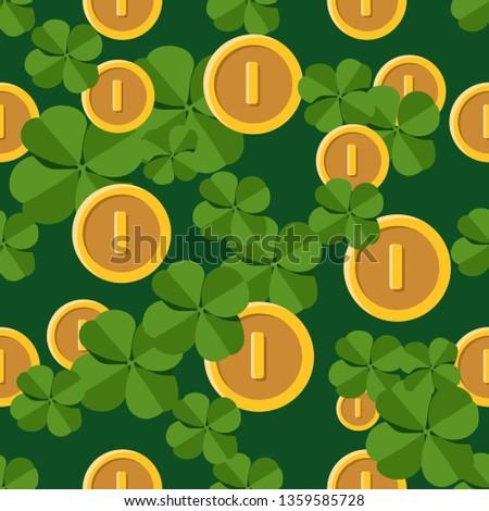 vector seamless clover pattern